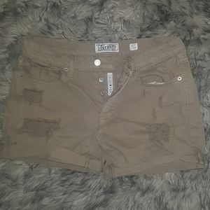 Lucky tan denim shorts